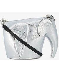 Loewe - Mini Elephant Metallic Shoulder Bag - Lyst