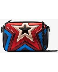 Stella McCartney - Multicoloured Star Quilted Vegan Leather Bag - Lyst