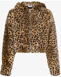 RE/DONE - Faux Leopard Jacket With Hood Ears - Lyst