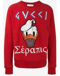 Gucci - Donald Duck Applique Sweatshirt - Lyst
