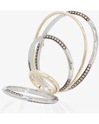 Gaelle Khouri - Twisted Parallel Diamond Ring - Lyst