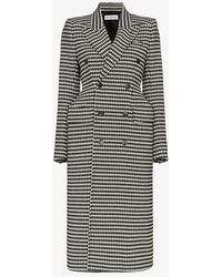 Balenciaga - Hourglass Double-breasted Check Coat - Lyst