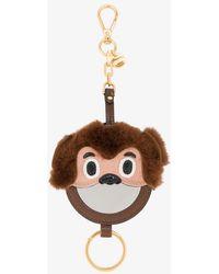 Miu Miu - Shearling Monkey Mirror Bag Charm - Lyst