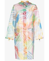 Mira Mikati - Brush Stroke Hooded Rain Mac - Lyst