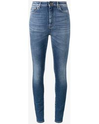 Saint Laurent - High Rise Slim-fit Jeans - Lyst