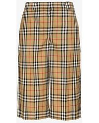 Burberry - Vintage Check Tailored Shorts - Lyst