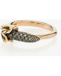 Bibi Van Der Velden - 18k Rose Gold Monkey Banana Diamond Ring - Lyst