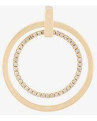 Asherali Knopfer - Gold And Diamond Giulia Double Hoop Earring - Lyst