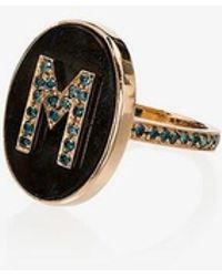 Carolina Bucci - 18kt Rose Gold Initial Ring - Lyst