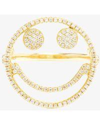 Rosa De La Cruz - Diamond Smiley Ring - Lyst