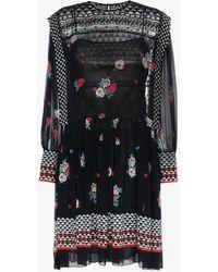 Philosophy Di Lorenzo Serafini - Floral Print Drop Waist Dress - Lyst