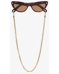 Lucy Folk - Brown Slice Of Heaven Cat Eye Sunglasses - Lyst