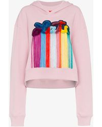 Mira Mikati - Late Slogan Hooded Sweatshirt - Lyst