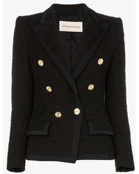 Alexandre Vauthier - Double-breasted Knitted Blazer Jacket - Lyst