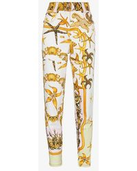 Versace - High Rise Jeans With Marine Print - Lyst