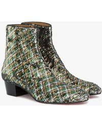 Christian Louboutin - Huston 40 Paillette Caresse Boots - Lyst