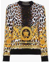 Versace - Wild Baroque Print Sweatshirt - Lyst