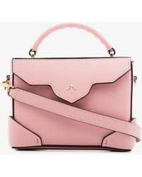 MANU Atelier - Pink Micro Bold Leather Cross-body Bag - Lyst