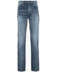Saint Laurent - Distressed Wash Skinny Jeans - Lyst