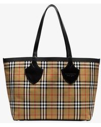 141b15ef749b Burberry - The Giant Medium Tote In Yellow And Red Cotton - Lyst