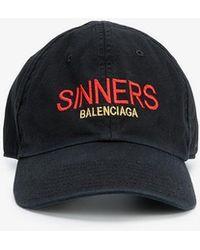 Balenciaga - Black Sinners Baseball Cap - Lyst