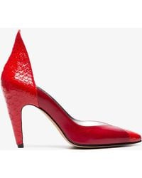 Givenchy - Red 110 Python Leather Court Shoes - Lyst