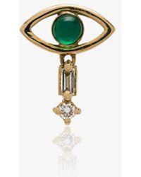 Ileana Makri - Emerald And Yellow-gold Earring - Lyst