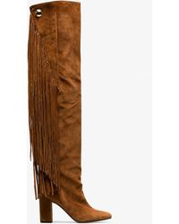 Chloé - Suede Calfskin Qaisha Boots - Lyst