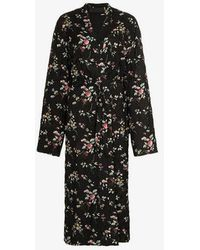 Haider Ackermann - Freesia Floral Print Quilted Single Breasted Coat - Lyst