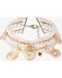 Rosantica - Armonia Pearl Twisted Chain Choker - Lyst