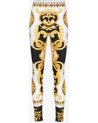 Versace - Barocco Ss'92 Print Silk Blend Leggings - Lyst