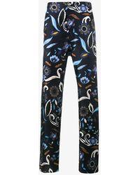 Fendi - Swan & Floral Print Pyjama Trousers - Lyst