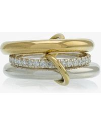 Spinelli Kilcollin - Metallic Silver And Gold Libra Diamond Ring - Lyst