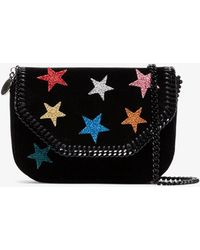 Stella McCartney - Mini Falabella Stars Crossbody Bag - Lyst