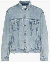 Ksubi X Travis Scott Oh G Ghosted Denim Jacket in Blue for Men - Lyst 0fa861ff5