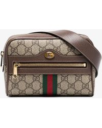f61e7d97cdbe Gucci Ophidia GG Supreme Canvas Belt Bag in Natural - Lyst