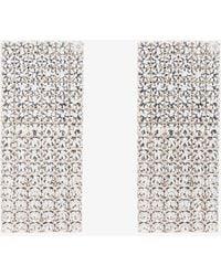 Alessandra Rich | Silver Swarovski Crystal Embellished Earrings | Lyst