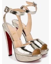 Christian Louboutin - Metallic Loulou Dance Sandals - Lyst