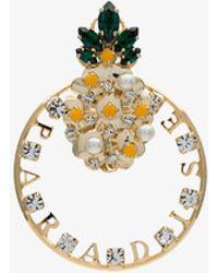 Anton Heunis - Gold Tone Pineapple Swarovski Earring - Lyst