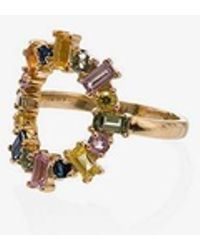 Ileana Makri - 18k Yellow Gold Rainbow Sapphire Ring - Lyst