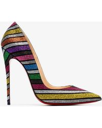 dc3c01d3d34 Christian Louboutin - Multicoloured So Kate 120 Rainbow Glitter Leather  Pumps - Lyst