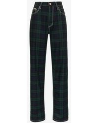 Eytys - Benz Check Loose Wool Trousers - Lyst