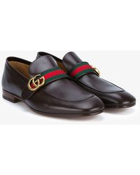 Gucci - Gg Web Loafers - Lyst
