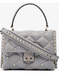 Valentino - Grey Medium Candy Studded Leather Shoulder Bag - Lyst