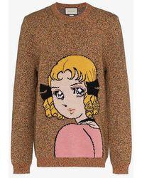 Gucci - Manga Girl Intarsia Wool Jumper - Lyst