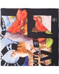 """Gucci - """"fy Yourself"""" Print Silk Scarf - Lyst"""