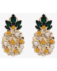 Anton Heunis - Swarovski Crystal And Pearl Pineapple Earrings - Lyst