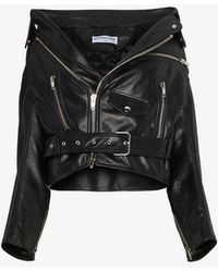 Balenciaga - Swing Leather Biker Jacket - Lyst