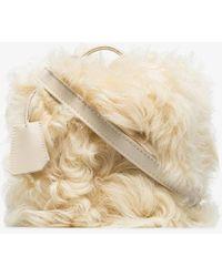 Natasha Zinko White Shearling Box Bag