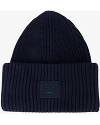 Acne Studios - Face Ribbed Knit Beanie Hat - Lyst